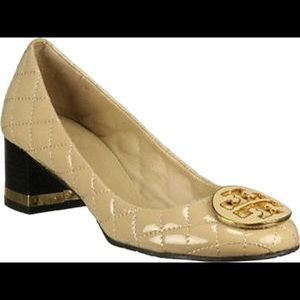 Tory Burch Cream Quilted Maggie Pump